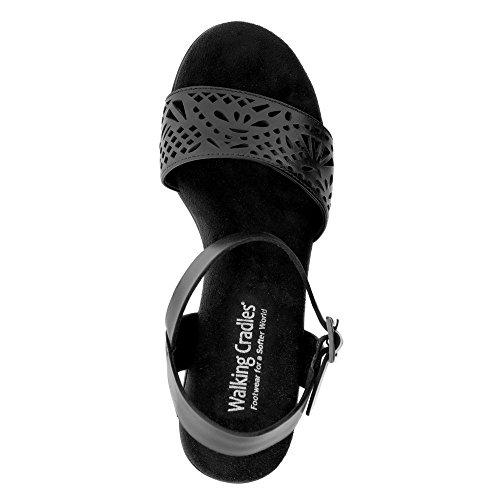 Antanado Black Walking Women's Cradles Antanado 7 Soft Nara sandals Soft White M BZBAqwU