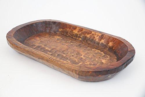 Food Safe Rustic Wooden Dough Bowl-Batea (Buy Wooden Bowls)
