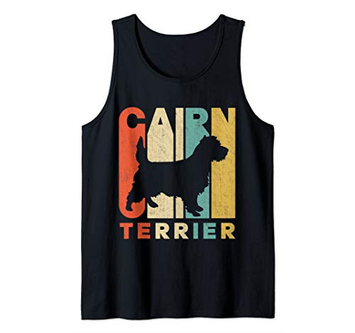 Cairn Terrier Silhouette - Vintage Retro Cairn Terrier Silhouette Tank Top