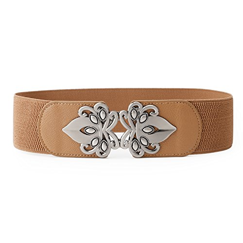 JasGood Women's Fashion Vintage Wide Elastic Stretch Adjustable Waist Cinch Belt