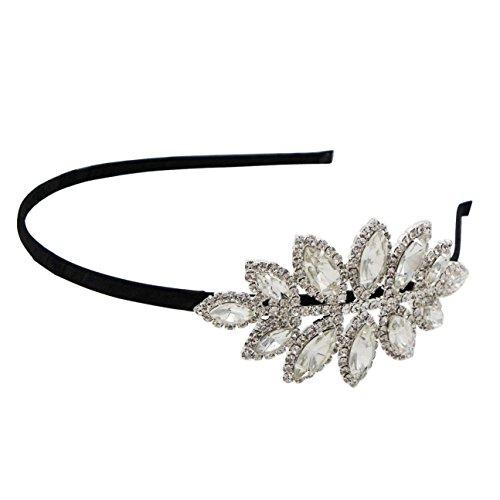 Rosemarie Collections Women's Bridal Crystal Rhinestone Side Spray Headband (Marquise Stone) -