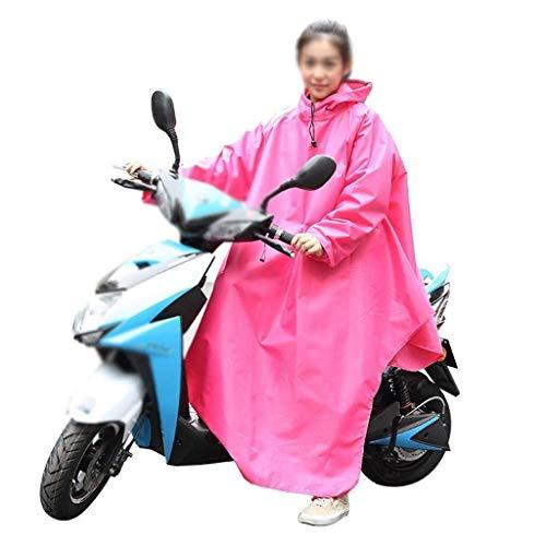 Espesor 3 Con Motocicleta Color Eléctrico Chubasquero Libre Aire Poncho Capucha Coche Al Lluvia Estilo De Sólido Fiesta Adulto SBwAqT