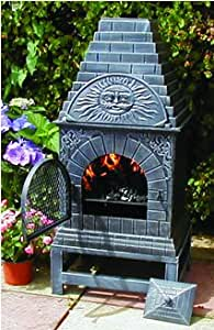 Amazon Com The Blue Rooster Cast Iron Casita Chiminea