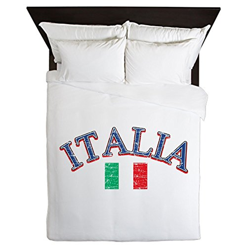 CafePress - Italy Soccer Designs - Queen Duvet Cover, Printed Comforter Cover, Unique Bedding, Microfiber by CafePress