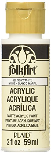 FolkArt Acrylic Paint in Assorted Colors (2 oz), 427, Ivory White