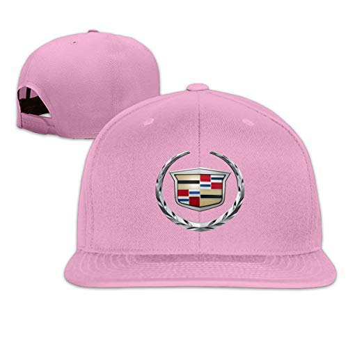 Censu General Motors Cadillac Logo Personalized Fashion Cap for Men Women,Pink ()