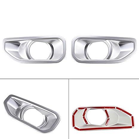 SOYAVISION 2Pcs ABS Car Front Fog Lamp Light Trim Cover for Jeep Wrangler JL 2018 2019 Fog Light Frame Decorative Cover Chrome