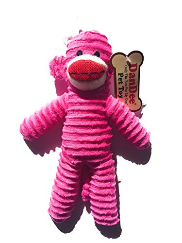 Cat Pet Buddies Face (Dan Dee Only The Best For My Dog Pet sock Monkey Toy (Pink))
