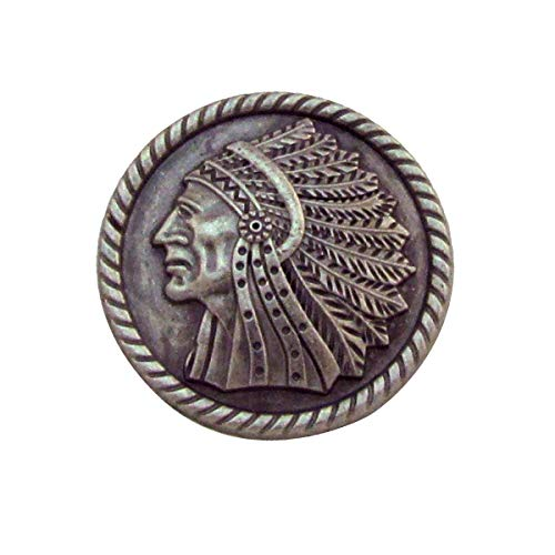 Apache Indian Headdress Screw Back Concho Leathercraft Accessory
