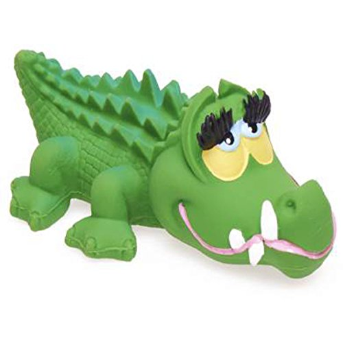LANCO Natural Rubber Toy, Crocodile (Discontinued by Manufacturer)