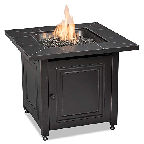 - Endless Summer GAD15255SP Square LP Gas Outdoor, Oil Rubbed Bronze Fire Table, Black