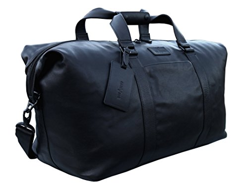 belarno-b105-leather-duffel-bag-21inch-long-black