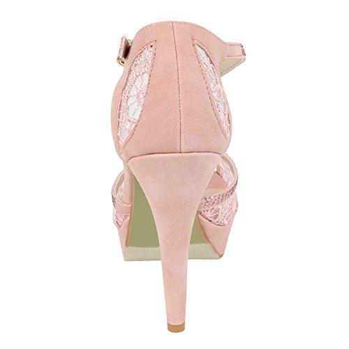 Womens Open Toe Crochet High Heel Dress Pretty Heeled-Sandals, Blush Nubuck, 7.5