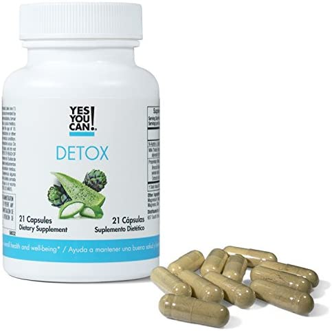 Yes You Can! Detox - 7 Day Quick Cleanse to Support Detox, Reach Ideal Weigh & Increase Energy Levels, Contains Aloe Vera, Broccoli Extract, N-Acetyl L-Cysteine - Adelgazar y Dieta - 21 Capsules 5