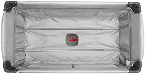 aus Alu mit Sicherungsgurt und Transporttasche MICA Reisebett in grau