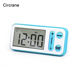 Digital Kitchen Timer, Circrane Cooking Timer battery operated, Large Display, Strong Magnet Back,Memory Function, Display Loud Alarm Clock, for Cooking Baking Sports Games Office (Blue)