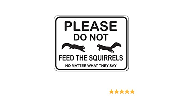 Do Not Feed Squirrels Style 2 Activity Sign Park Signs Aluminum METAL Sign