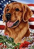 "Golden Retriever Red Dog – Tamara Burnett Patriotic I Garden Dog Breed Flag 28"" x 40"" Review"