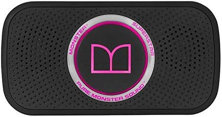 Monster SuperStar HD Bluetooth Speaker, Black Neon Pink-Ultra compact, Water-resistant