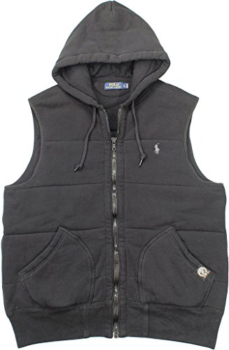 Polo Ralph Lauren Men's Quilted Fleece Vest, Polo Black, Medium