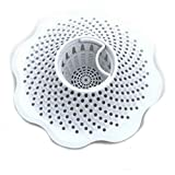 Danco 10306 Microban Hair Catcher, Bathroom and Bathtub Strainer White (2 Pack)