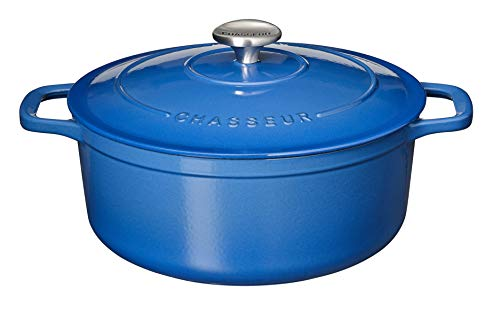Chasseur 10-1/4-Inch Blue Enamel Cast-Iron Round Dutch Oven