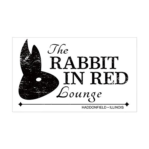 CafePress - Rabbit In Red Lounge - Rectangle Bumper Sticker Car Decal