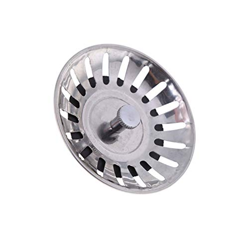 Kitchen Waste Stainless Steel Sink Strainer Plug Drain Filter Stopper Basket ()