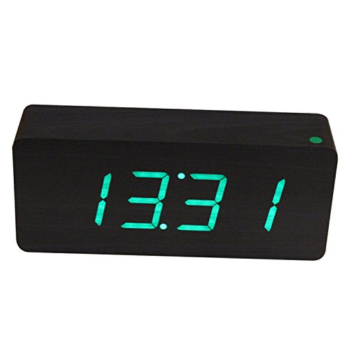A Clockwork Orange Dim Costume (Antique Old Style Digital Led Alarm Clock Sound Control Wooden Wood Framework Desktop Clock Led Display Hours)