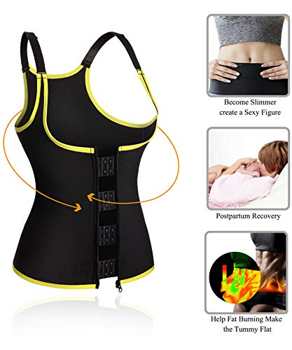 7bf6294f5f Ursexyly Hot Sweat Workout Sauna Suit Tank Neoprene Waist Cincher Top Vest  with Adjustable Strap for