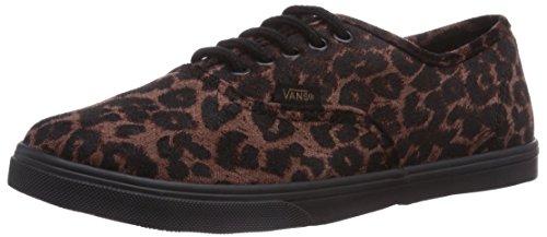 - Vans New Authentic Lo Pro Suede Leopard Black/Black 3.5/5 Unisex Shoes