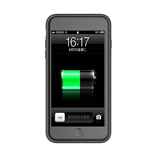 iPhone 8 Plus/ iPhone 7 Plus Coque Batterie Étui 4000mAh Ultra Mince External Rechargeable de Chargeur Portable de Secours Externe Chargeur Housse Power Case Prolonger de Protection pour iPhone 8 Plus