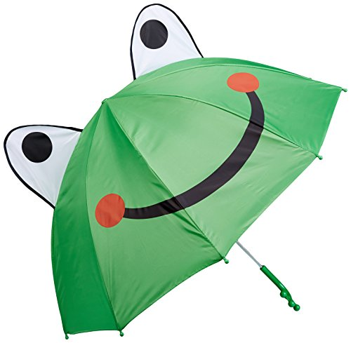 Kidorable Girls' Frog Umbrella, Green, Adult Size (Frog Umbrella)