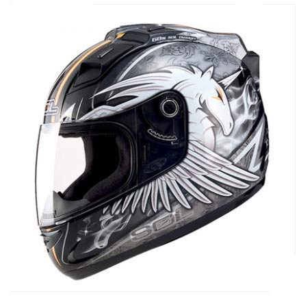 MCJL Motorcycle Helmet Full face Helmet Men and Women Four Seasons Racing Helmet Running Helmet LED Lights Motorcycle Helmet,3,XXL