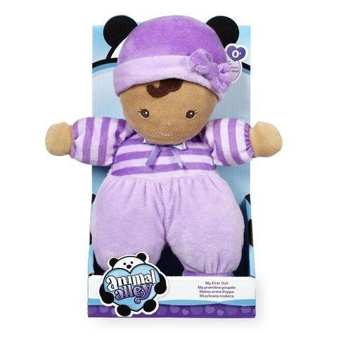 Animal Alley 10 inch My First Stuffed Doll - Purple