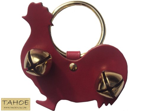 Tahoe Tack Fancy Holiday Brass Animal Shaped Sleigh Bell Leather Door Hangers