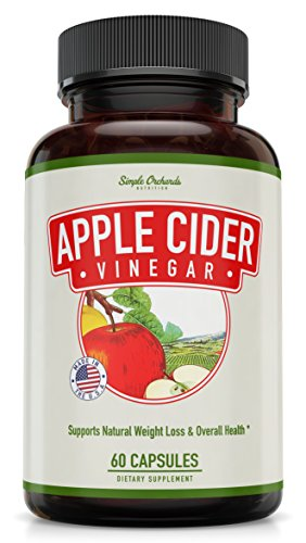 Apple Cider Vinegar Pills for Weight Loss by Simple Orchards - 1250MG - Powerful, Tasteless Capsules for Diet & Digestion Support - Curb Appetite, Eliminate Fatigue, and Boost Your Energy