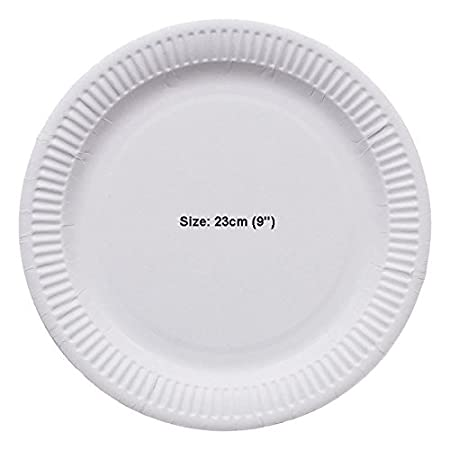 50 Disposable Paper Plates 23cm Disposable Party Wedding BBQ Event Catering Home