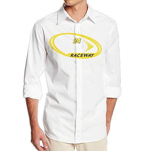 (Namii Gordon-nascar Men's Funny Long Sleeve Button Down Shirts - SizeXL White)