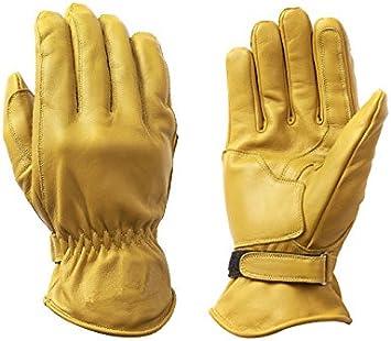 BOSmoto S, cera, beige Guanti da moto Racing Kevlar in pelle cerata