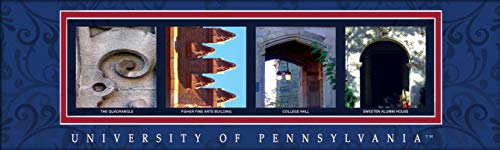 - College Campus Letter Art Pennsylvania (University of) Bold Print Unframed Poster 18x6 Inches