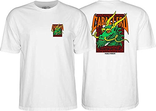 (Powell CAB Street Dragon SS XL-White)