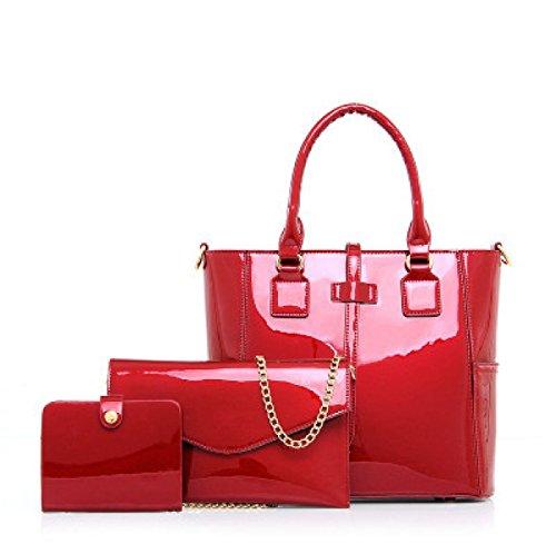 Mujer PU En El Invierno El Nuevo Brillante De Tres Piezas Bolso Diagonal Bolsa Bolsa Satchel Personalidad Moda único Bolsa Red