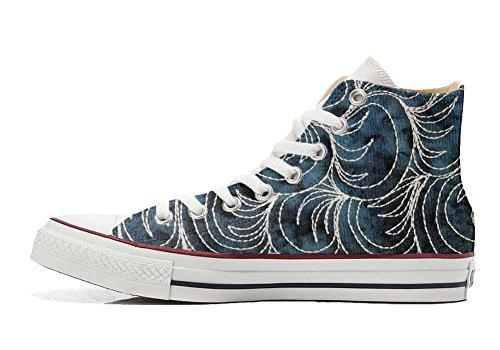 All Imprimés Spake Italien Unisex Paisley chaussures et artisanal Converse Hi Personnalisé Sneaker Star produit coutume qZqwR