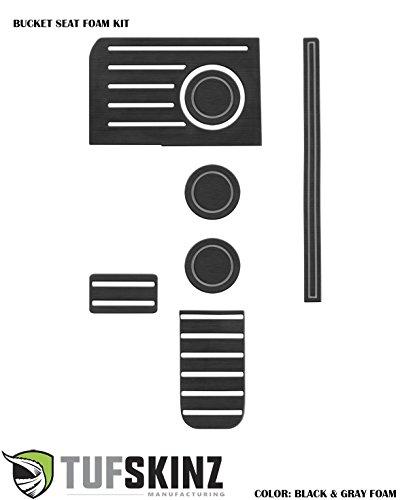 2014-up Toyota Tundra Interior Cup Holder Inserts – 6 Piece Kit (Black/Gray)