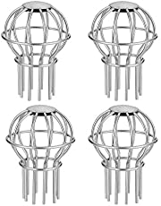 Bopfimer 4 Pcs 2 Inches Gutter Guard Downspout Leaf Filter Steel Gutter Screen Covers for Stopping Blockage Leaves