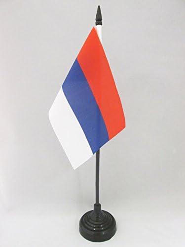 Serbian without arms Desk Flag 15 x 10 cm Black plastic stick and base AZ FLAG Serbia Civil Table Flag 4 x 6
