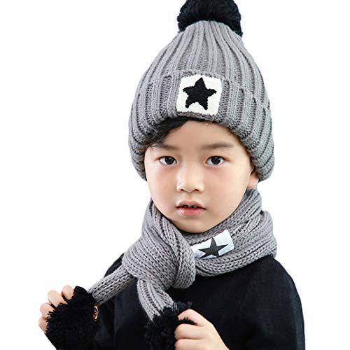 t wilker 2pcs kids winter knitted hats