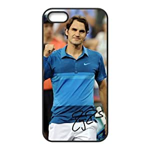 Popular Famous Professional Tennis Player-Roger Federer Image Design for TPU Apple Iphone 5/5s Case (black)