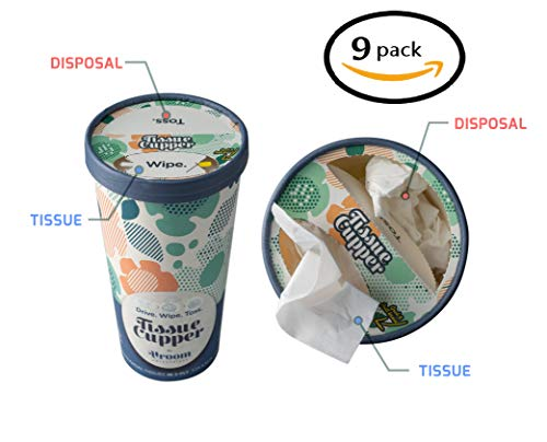 (Car Tissue Holder with Soft and Disposable Tissue Paper. Convenient Travel Tissues Box. Facial Tissues - Perfect Tissue Dispenser for Keeping Hands and Face Clean On The Go.)